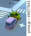 CG 3D イラスト デザイン 立体 車 自動車 交通 事故 トラブル 衝突事故 道路 保険 事例 48977843