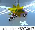CG 3D イラスト デザイン 立体 車 バイク 交通 事故 トラブル 衝突 道路 保険 事例 教本 48978017