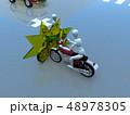 CG 3D イラスト デザイン 立体 バイク オートバイ 交通 事故 トラブル 道路 保険 事例 48978305