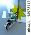 CG 3D イラスト デザイン 立体 バイク オートバイ 交通 事故 トラブル 道路 保険 事例 48978412
