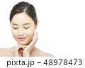 若い女性 女性 アジア人の写真 48978473