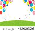 イベント背景イラスト 風船と芝生  48980326