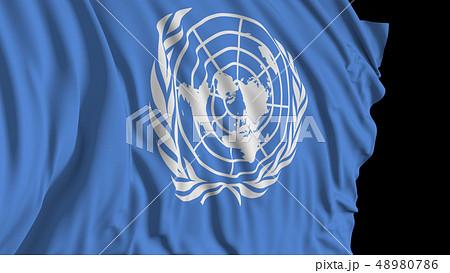 3d rendering of a UN flag 48980786