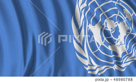 3d rendering of a UN flag 48980788