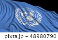 国連 国際連合 旗のイラスト 48980790