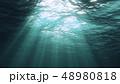 水中 ライト 光のイラスト 48980818