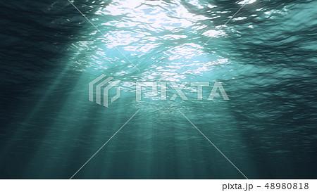 3D rendering of underwater light 48980818