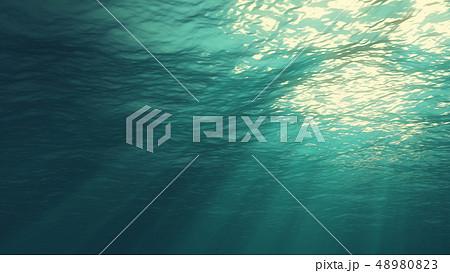 3D rendering of underwater light 48980823