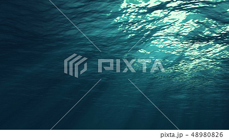 3D rendering of underwater light 48980826