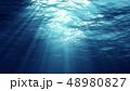 水中 ライト 光のイラスト 48980827
