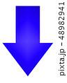 矢印 アイコン 方向 シンプル 青 ブルー 標識 案内  48982941