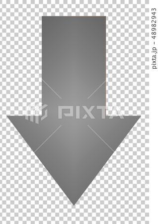 箭頭灰色圖標透明png平方向簡單鼠標顏色 48982943