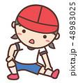 体操 小学生 体操着のイラスト 48983025