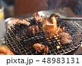 ホルモン焼き 網焼き 焼肉の写真 48983131