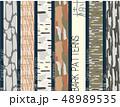 樹皮模様のパターンセット 6パターン 48989535