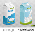 ミルク 乳 牛乳のイラスト 48993859