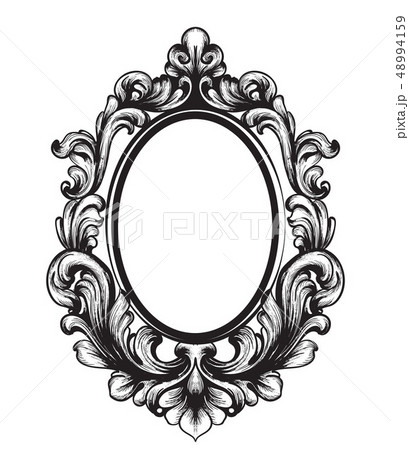Baroque Mirror frame. Vector French Luxury rich 48994159