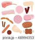 肉のイラスト 48994353