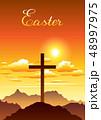 復活祭 キリスト教 十字架のイラスト 48997975