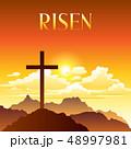復活祭 キリスト教 十字架のイラスト 48997981