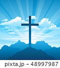 復活祭 キリスト教 十字架のイラスト 48997987