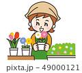 花屋 働く 女性のイラスト 49000121