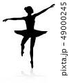 バレエ ダンサー 人影のイラスト 49000245