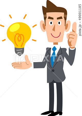 アイデアの要点を解説する若いビジネスマン 49001185