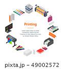 プリント カラー 色のイラスト 49002572