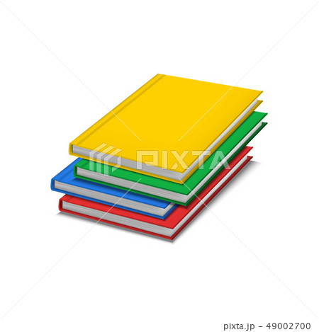 Realistic Detailed 3d Color Blank Hardcover Books Template Mockup Pile. Vector 49002700