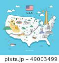 미국 랜드마크 세계 여행 일러스트 49003499