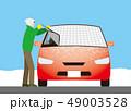 凍結防止シートで自動車のフロントガラスに霜がつくのを予防する 49003528