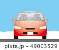 自動車のフロントガラスについた霜 49003529