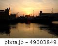 街の夕日 49003849