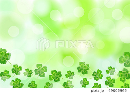 新緑 クローバー 緑 背景 49006966