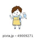 料理をする男の子 49009271