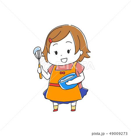 料理をする女の子 49009273