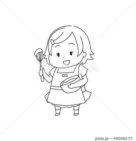 料理をする女の子 49009277