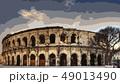 コロッセオ ローマ 観光 闘技場 イラスト 49013490
