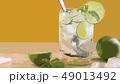 ドリンク ライム 氷 水 飲み物 ミント 49013492