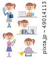 女の子 高校生 スマートフォンのイラスト 49014113