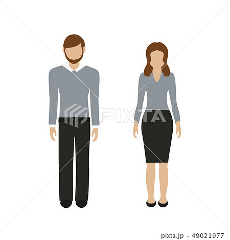 man and woman character in casual business look 49021977