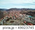 Aerial shot of famous Praid salt city at daylight 49023745