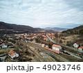 Aerial shot of famous Praid salt city at daylight 49023746