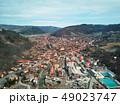 Aerial shot of famous Praid salt city at daylight 49023747