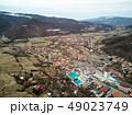 Aerial shot of famous Praid salt city at daylight 49023749