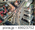 Aerial shot of Targu Mures old city at daylight 49023752