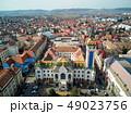 Aerial shot of Targu Mures city town hall 49023756