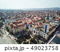 Aerial shot of Targu Mures city town hall 49023758