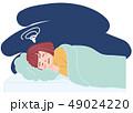 睡眠中に悪夢を見る女性 49024220